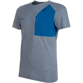 Mammut Crashiano Pocket T-Shirt Men Wing Teal Melange-Sapphire